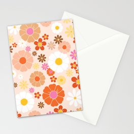 Groovy 60's Mod Pastel Flower Power Stationery Cards