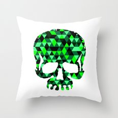 Triangle Camouflage Skull (WITHE) Throw Pillow