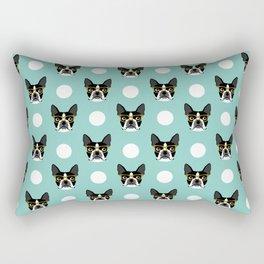 Logan - Boston Terrier pattern polka dots dog print gift for dog person dog lovers terrier custom Rectangular Pillow