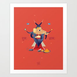Ganesha: Hindu God of good luck Art Print