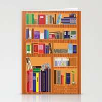 video game Stationery Cards featuring Video Game Geek's Bookshelf by ambivalentpress