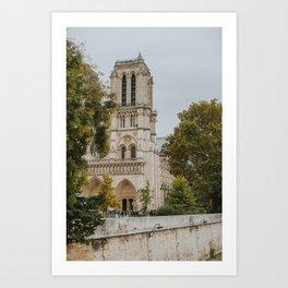 Notre-Dame in Fall Art Print