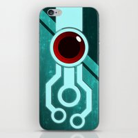 transistor iPhone & iPod Skins featuring The Paintbrush by Grimaldo