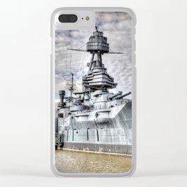 Battle Ship Texas Clear iPhone Case