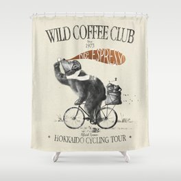 WCC1973-kuma Shower Curtain