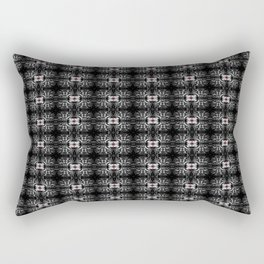 Spider Pipes in Black, Red, and White Rectangular Pillow
