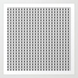 Retro Black and White Squares Art Print