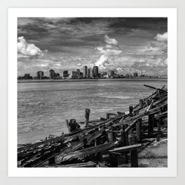 Across the River Art Print