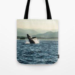 Humpback Whale Photography Print Tote Bag