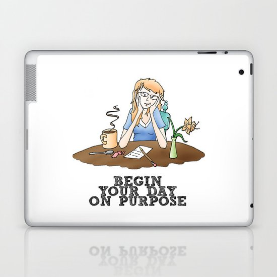 Live Your Life on Purpose, Illustration Laptop & iPad Skin