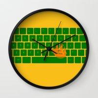 spaceship Wall Clocks featuring Spaceship by Dampa