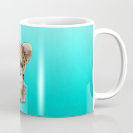 Leopard Cub With Football Soccer Ball Coffee Mug