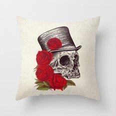 Dead Gentleman Throw Pillow
