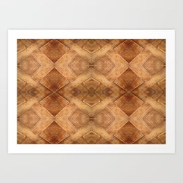 Wooden Table (pattern) Art Print