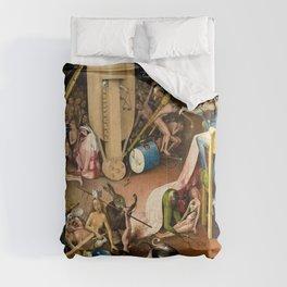The Garden of Earthly Delights - Bosch - Hell Bird Man Detail Comforters