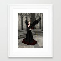 evil queen Framed Art Prints featuring Evil Queen by Design Windmill