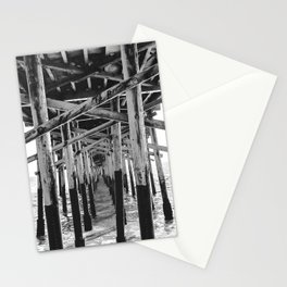 Balboa Pier Print {3 of 3} | Newport Beach Ocean Photography B&W Summer Sun Wave Art Stationery Cards