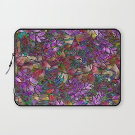 Floral Abstract Stained Glass G175 Laptop Sleeve
