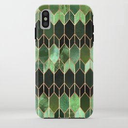 Stained Glass 5 - Forest Green iPhone Case
