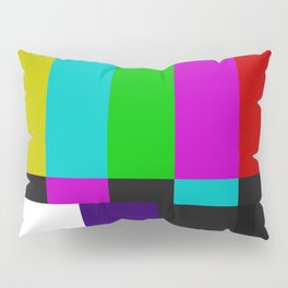 SMPTE Color Bars (as seen on TV) Pillow Sham