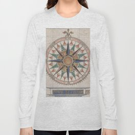 Historical Nautical Compass (1543) Long Sleeve T-shirt