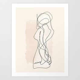 As One | Minimal Abstract Line Drawing Art Print