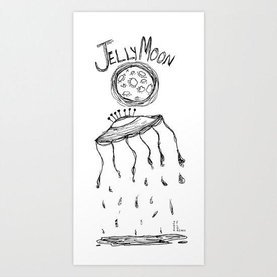 Jelly Moon V.2 Art Print