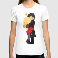 ouat T-shirts featuring OUAT - Hook and Emma by Choco-Minto