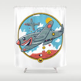 Kamikaze Likes and Smiles Shower Curtain