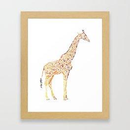 My Spirit Animal is a Giraffe Framed Art Print