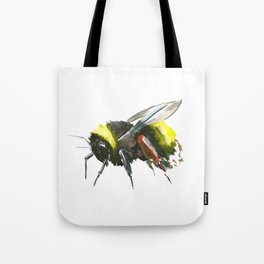 Bumblebee, minimalist bee honey making art, design black yellow Tote Bag