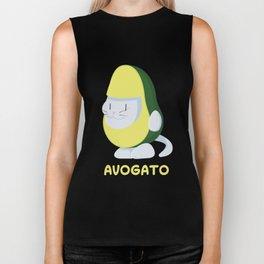 Delicious Avogato - Perfect For Cat & Avocado Lovers Biker Tank