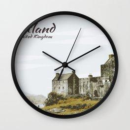Eilean Donan Castle Scotland United Kingdom Wall Clock