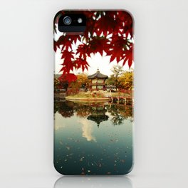 Autumn Gyeongbokgung palace, Seoul, Korea iPhone Case