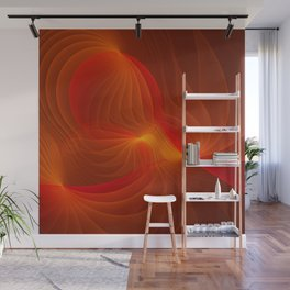 Much Warmth, Abstract Fractal Art Wall Mural