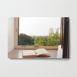 Window Seat Journaling Metal Print