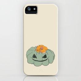 Little bat on a pumpkin iPhone Case