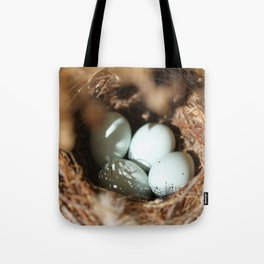 Bird Eggs Nest Tote Bag