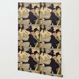 """Henri de Toulouse-Lautrec """"Divan Japonais"""" Wallpaper"""