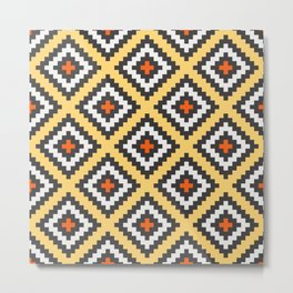 Aztec pattern design 2 Metal Print