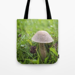 Mushroom in the Morning Dew by Althéa Photo Tote Bag