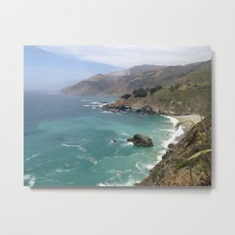 Big Sur Cali waters Metal Print