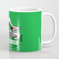 kermit Mugs featuring Sesame's Creed by BC Arts