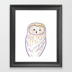 The Owl. Owl art, owls, owl print, owl illustration, nature, animals, children's Framed Art Print