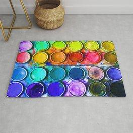 Watercolor Art Palette Rug