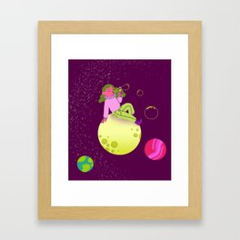 Bubbles in Space Framed Art Print