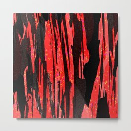 Unique Abstract Scarlet and Black Design Metal Print