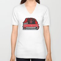 thundercats V-neck T-shirts featuring  thundera university by Buby87