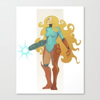 samus Canvas Prints featuring Samus by Tim Kaminski