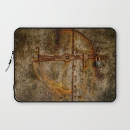 Locked Rusty Metal Doors Laptop Sleeve